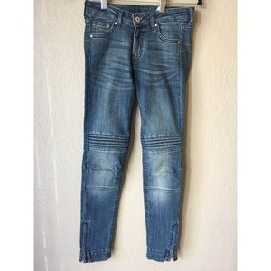 Skinny Low waist ankle jeans with zipper detailing